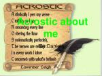 Acrostic about me
