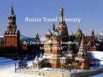 Russia Travel Itinerary