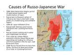 Causes of Russo-Japanese War