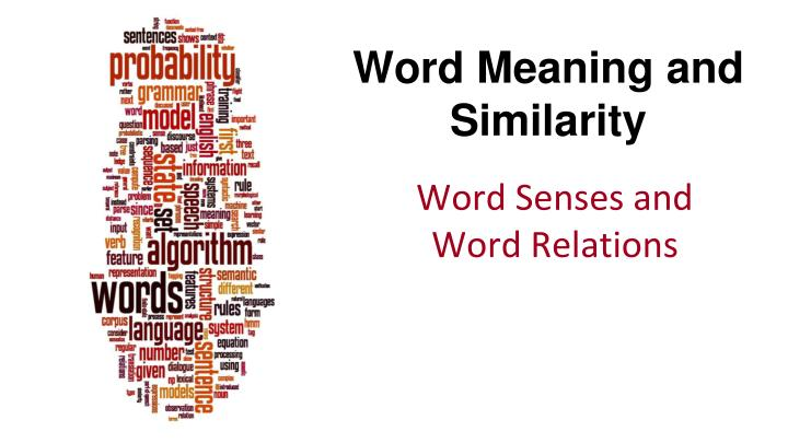 word meaning and similarity n.