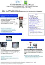 NEDO-NRCT Cooperative Project – Mainly focusing on High-Resolution 3D Endoscopic System and