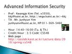 Advanced Information Security