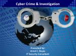 Cyber Crime & Investigation