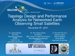 Topology Design and Performance Analysis for Networked Earth Observing Small Satellites