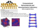 Computational  Nanomaterials  and  Nanomechanics  Laboratory RCAS, Academia Sinica
