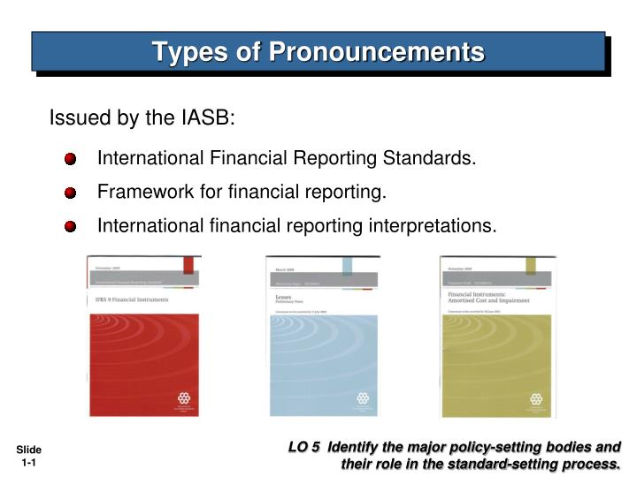 types of pronouncements n.