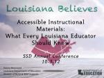 Accessible Instructional Materials: What Every Louisiana Educator Should Know