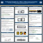 Professional Template for a 100cm x 100cm poster presentation