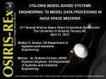 UTILIZING MODEL-BASED SYSTEMS ENGINEERING TO MODEL DATA PROCESSING IN NASA SPACE MISSIONS