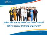 What will you do when you leave school? Why  is career planning important ?