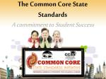 The Common Core State Standards A commitment to Student Success