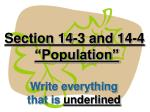 """Section 14-3 and 14-4 """"Population"""""""