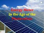 Energy Meter  in the Age of the  Photovoltaic