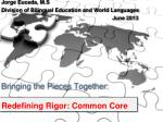 Bringing the Pieces  Together:  Redefining Rigor: Common Core