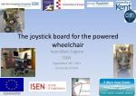 The joystick board for the powered wheelchair