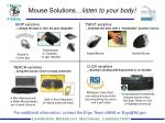 Mouse Solutions… listen to your body!