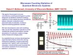Microwave Counting Statistics of Quantum Electronic Systems