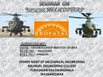 """SEMINAR  ON """" APACHE HELICOPTERS """""""