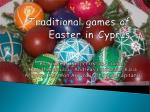 Traditional games of Easter in Cyprus