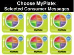 Choose MyPlate: Selected Consumer Messages
