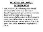 INTRODUTION   ABOUT  REFRIGERATOR
