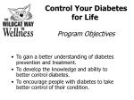 Control Your Diabetes for Life Program Objectives