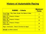 History of Automobile Racing