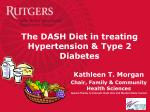 The DASH Diet in treating Hypertension & Type 2 Diabetes