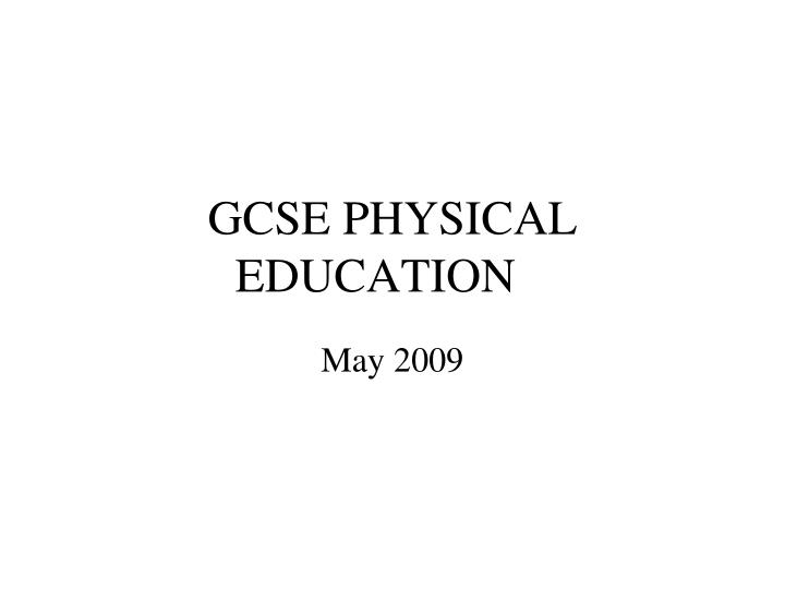 gcse physical education n.