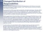 Changed Distribution of Responsibilities