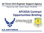 AFCESA Contract Opportunities Briefing