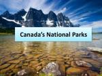 Canada's  National Parks