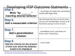Developing IFSP Outcome  Statments