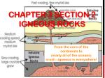 Chapter 3 Section 2 Igneous Rocks