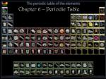 Chapter 6 – Periodic Table