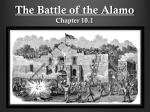 The Battle of the Alamo Chapter 10.1