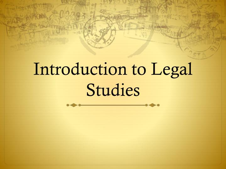 introduction to legal studies n.