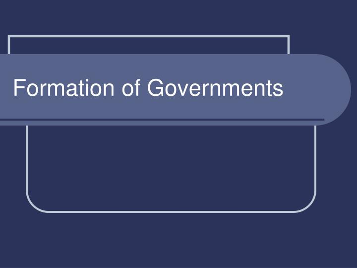 formation of governments n.