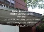 Digital Strategies for Health Communication Personas
