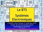 BTS SYSTEMES ELECTRONIQUES