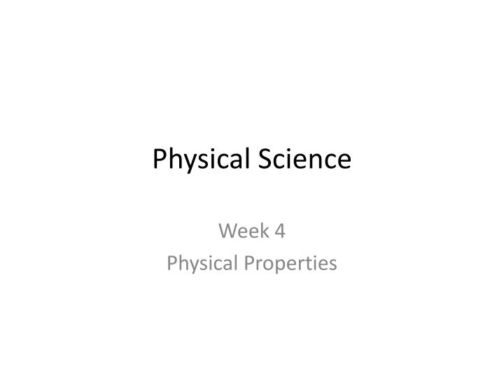 PPT - Physical Science PowerPoint Presentation - ID:2431467