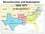 Reconstruction and Redemption 1863-1877