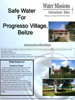 Progresso Village, Belize
