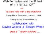 Web Formalism and the  IR limit of 1+1 N=(2,2) QFT