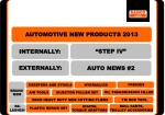 AUTOMOTIVE NEW PRODUCTS 2013