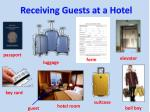 Receiving Guests at a Hotel
