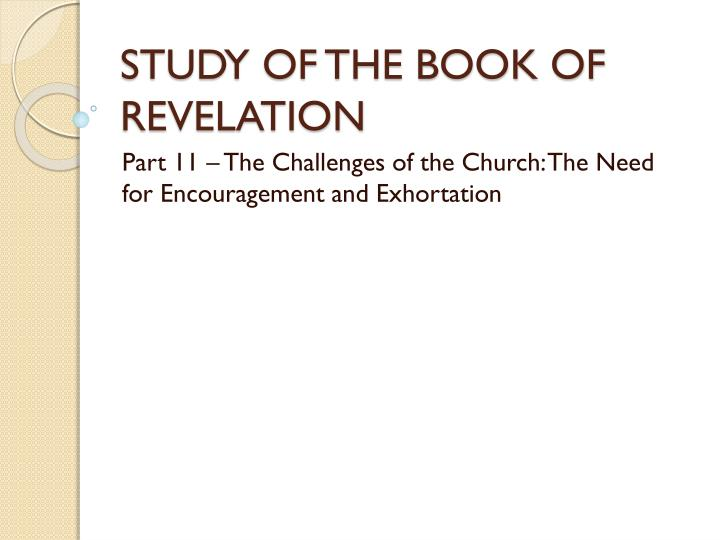 study of the book of revelation n.