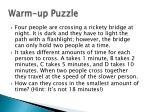 Warm-up Puzzle