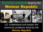 Economic problems faced by the Weimar Republic