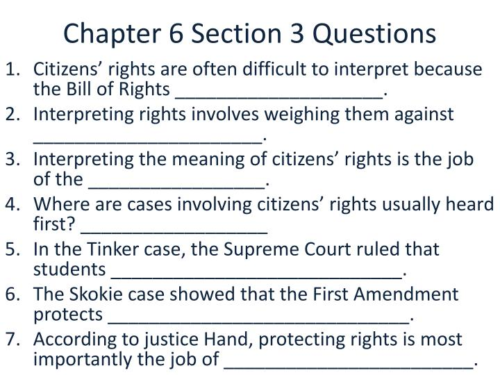 chapter 6 section 3 questions n.